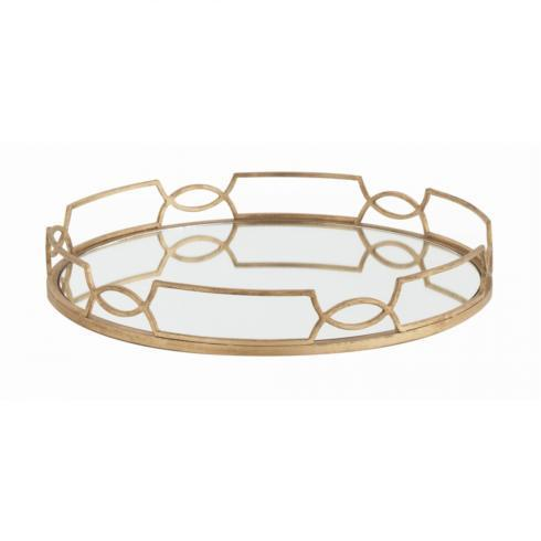 SOUTH Exclusives   Arteriors Cinchwaist Gold Round Tray $335.00