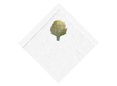 SOUTH Exclusives   Anali Closed Artichoke Square Cocktail Napkin, Set of 4 $50.00