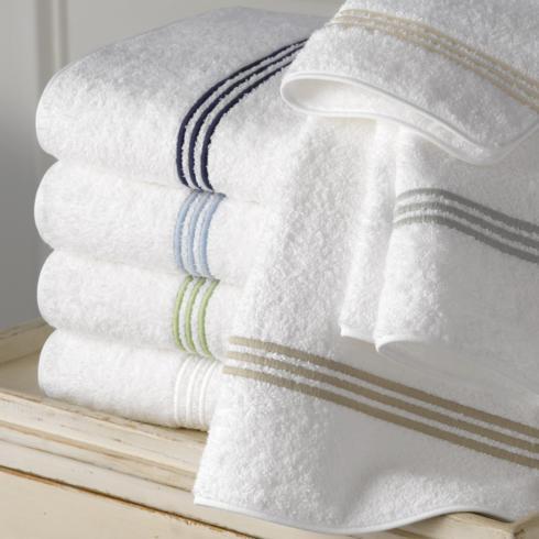 Matouk   Bel Tempo Wash Cloth, Navy $29.00