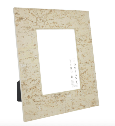 SOUTH Exclusives   Bird & Company Cork/Silver Leaf 4x6 Frame $90.00