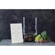 Simon Pearce   Weston Vase Large w/ Wedding Invitation Engraving $320.00