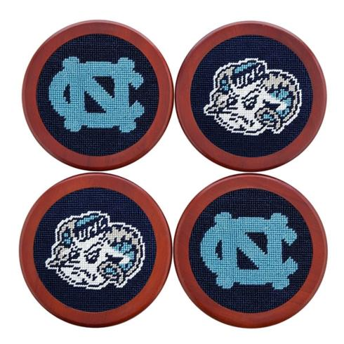 $75.00 UNC Needlepoint Coasters