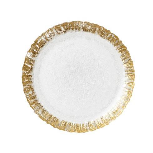 Rufolo Ruffle Glass Gold Salad/Dessert Plates collection with 1 products