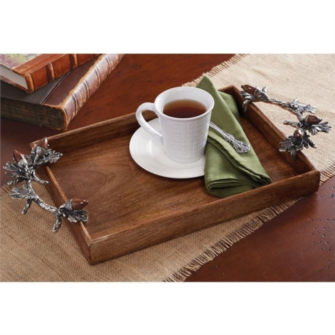 $82.50 ACORN HANDLE WOOD TRAY
