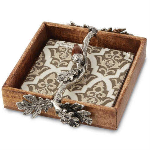 $32.50 ACORN NAPKIN HOLDER SET
