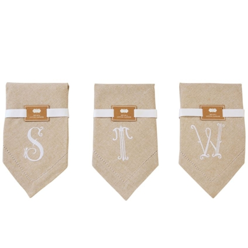 "$20.00 INITIAL NAPKINS ""S"""