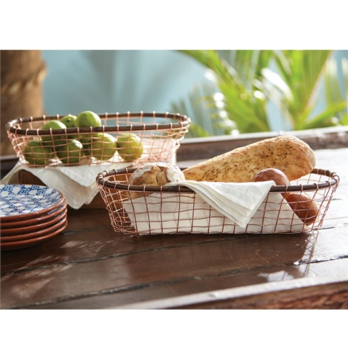 $47.50 OVAL COPPER WIRE BASKET SET