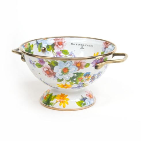 $52.00 FLOWER MARKET SMALL COLANDER - WHITE