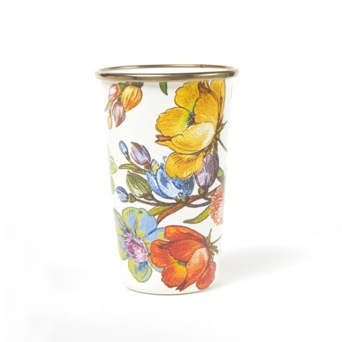 $40.00 Flower Market 20 oz. Tumbler - White