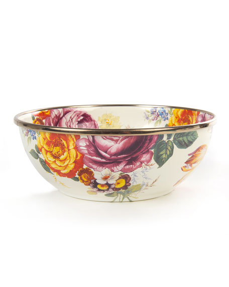 $40.00 FLOWER MARKET EVERYDAY BOWL - WHITE