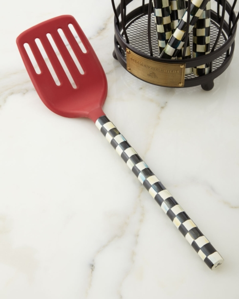 MacKenzie-Childs  Kitchen and Home COURTLY CHECK SLOTTED TURNER - RED $32.00