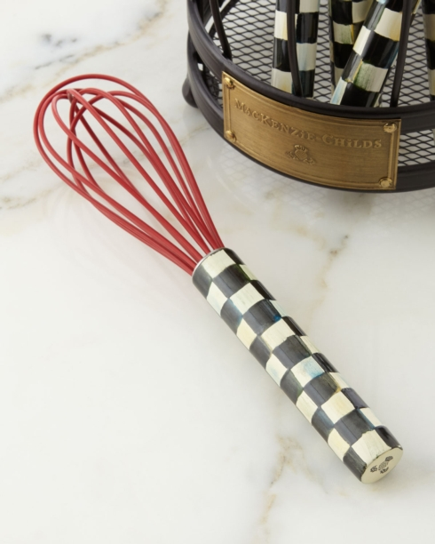 MacKenzie-Childs  Kitchen and Home COURTLY CHECK SMALL WHISK - RED $25.00