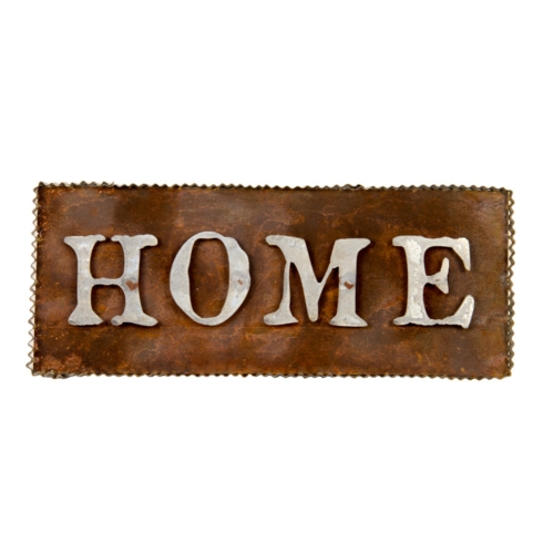 "Galvanized/Rust "" Home"" Sign"
