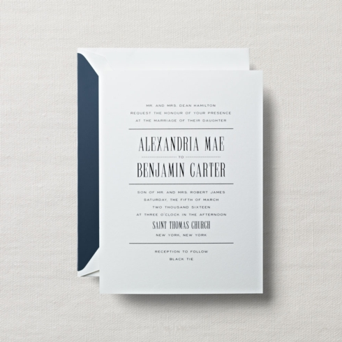 $10.60 Embassy Pearl White Wedding Invitation. From $2.42 | per card.  Call for price.