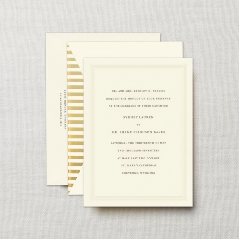 $14.48 Engraved Embassy Deco Invitation with Embossed Frame.  From $4.54 | per card. Call for price.