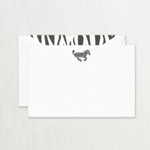 $29.00 Engraved Zebra Correspondence Card