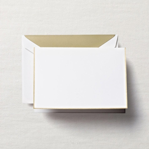 $20.00 Gold Bordered Pearl White Note