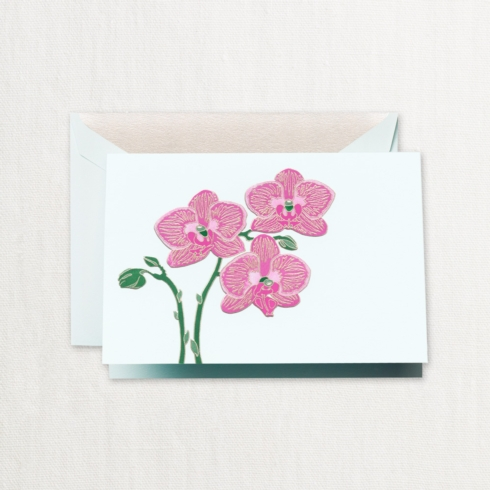 $32.00 Engraved Violet Orchid Note
