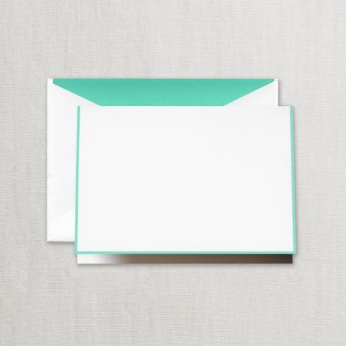 $20.00 Aqua Bordered Note