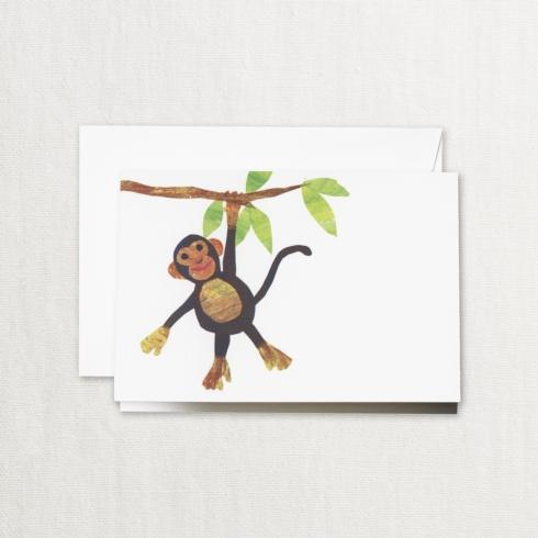 $17.00 Cut Paper Monkey Note