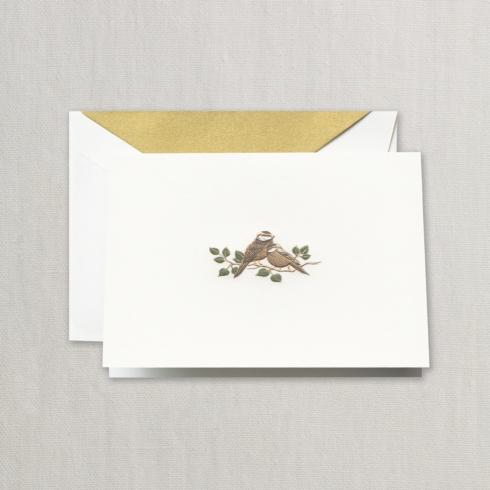 $29.00 Hand Engraved Love Bird Note