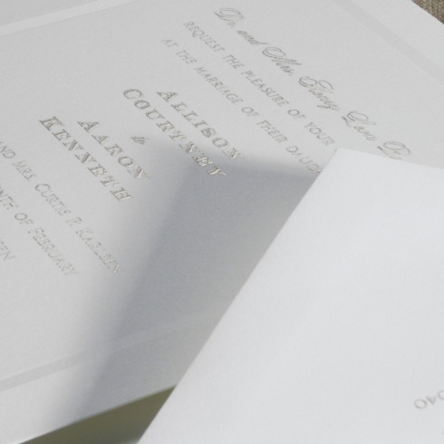 $14.48 Engraved Embassy Fairfax Invitation with Beveled Panel. From $4.54 | per card. Call for price.