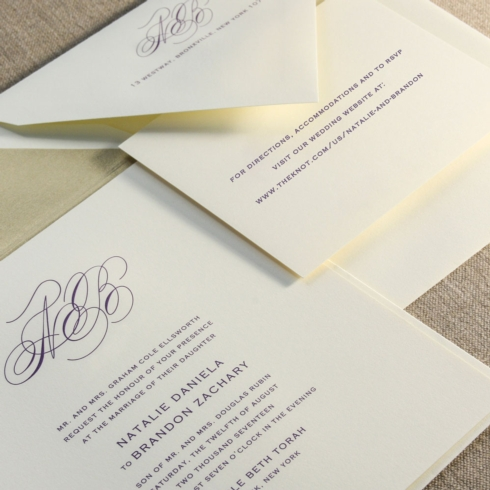 $14.28 Engraved Marquis Buchanan Invitation. From $4.34 | per card. Call for price.