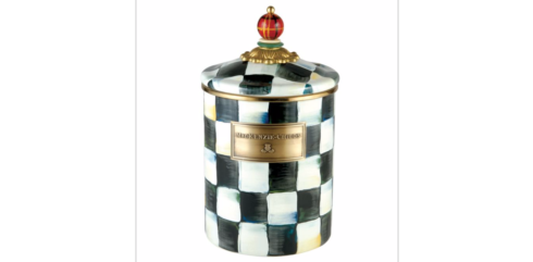 MacKenzie-Childs  Courtly Check COURTLY CHECK ENAMEL CANISTER - MEDIUM $80.00