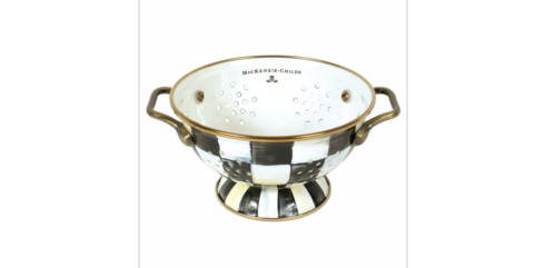 MacKenzie-Childs  Courtly Check COURTLY CHECK ENAMEL COLANDER - SMALL $52.00