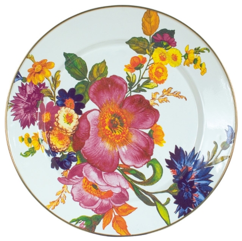 $50.00 Flower Market Charger/Plate - White