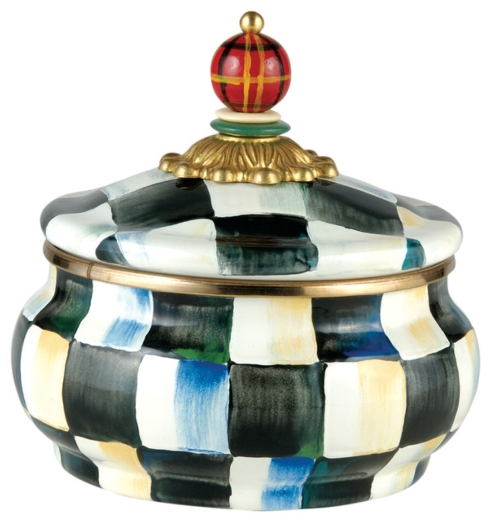 MacKenzie-Childs  Courtly Check COURTLY CHECK ENAMEL SQUASHED POT $72.00