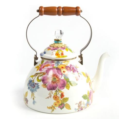 $135.00 Flower Market 3 Quart Tea Kettle - White -