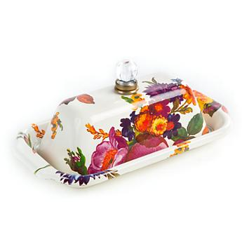 $98.00 Flower Market Butter Box - White
