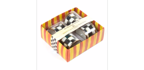 MacKenzie-Childs  Courtly Check COURTLY CHECK ENAMEL NAPKIN RINGS - SET OF 4 $65.00