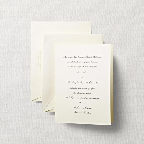 $7.92 Ecruwhite Embassy Wedding Invitation.  From $3.64 | per folder.  Call for price.