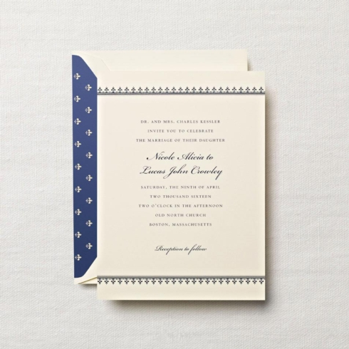 $7.64 Engraved Embassy Biltmore Invitation With Gold Border. From $2.58 | per card.  Call for price.