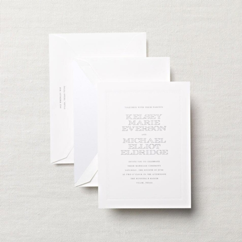 $8.08 Embassy Wedding Invitation with Beaded Frame.  From $3.80 | per card.  Call for price.