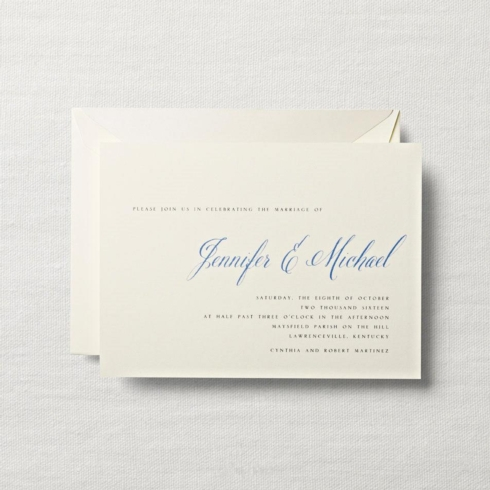 $10.84 Ecruwhite Horizontal Embassy Wedding Invitation.  From $2.66 | per card. Call for price.