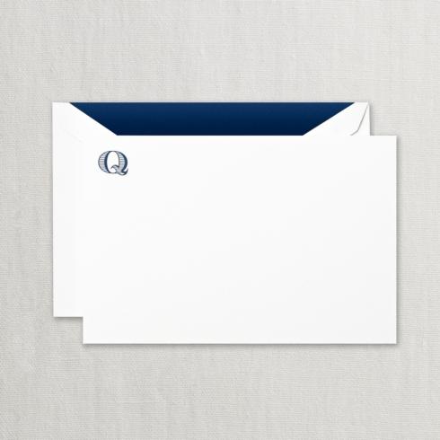 "$24.00 Initial ""Q"" Correspondence Card"