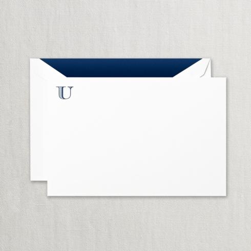 "$24.00 Initial ""U"" Correspondence Card"