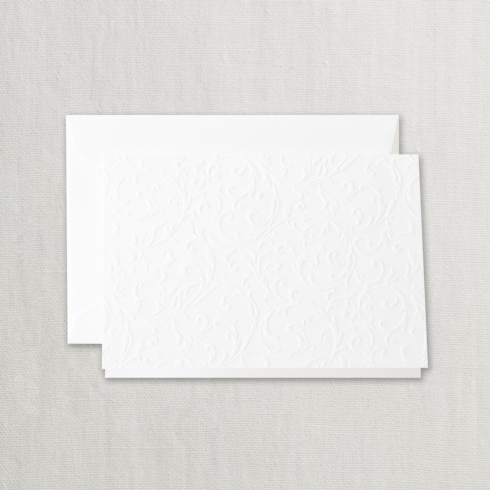 $19.00 Pearl White Blind Embossed Note