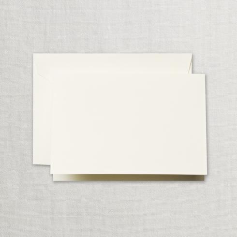 $14.00 Ecruwhite Folded Note