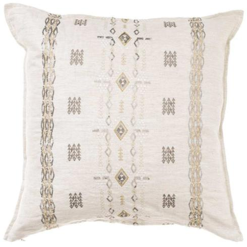 "$188.00 BERBER SEQUIN IVORY PILLOW 20""X20"""