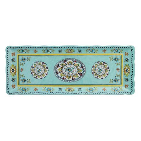 $19.25 Madrid Turquoise baguette tray