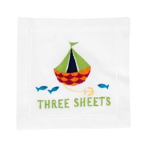 $40.00 Three Sheets Cocktail Napkins set/4