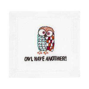 $40.00 Owl Have Another Cocktail Napkins set/4