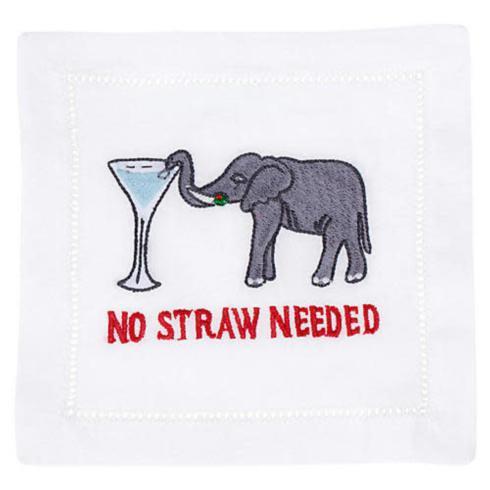 $40.00 No Straw Needed Cocktail Napkins set/4