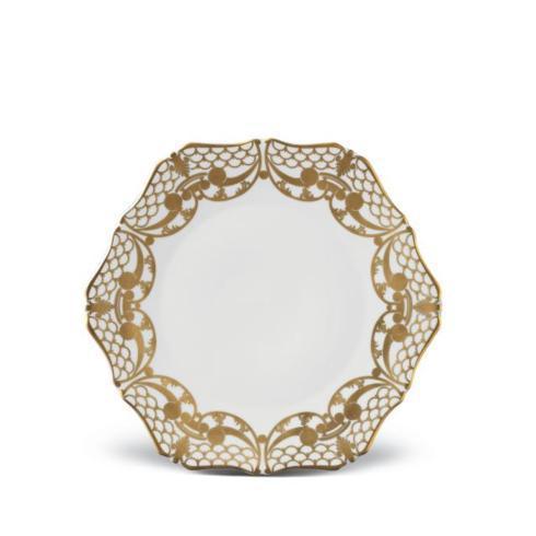 $136.00 Alencon Gold Dessert Plate