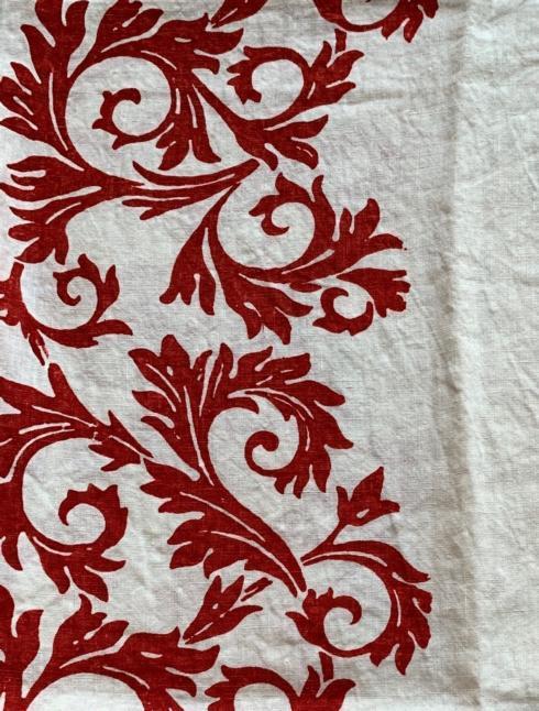 $256.00 Acanto Rosso Tablecloth