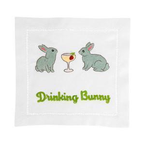 $40.00 Drinking Bunny Cocktail Napkins set/4